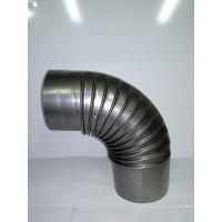 Koleno kouřové pr.100 mm z ocelového plechu tl. 0,5mm